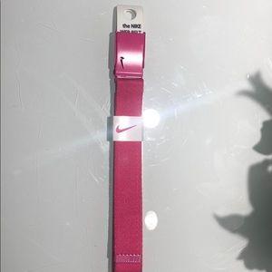 Pink nike web belt